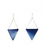 Boucles d'oreilles M Eventail Bleu