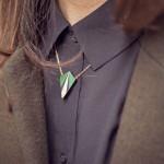 Collier HEBE vert porté