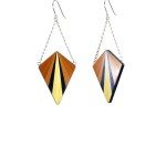 Boucles d'oreille HESTIA orange / noir / jaune