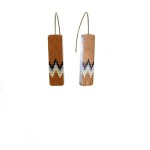 Boucles d'oreille TYCHE orange