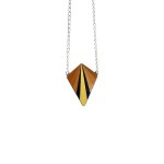 Collier HEBE orange / noir / jaune